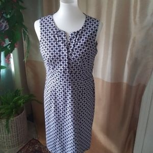 Jude Connally size M navy blue & white knit dress